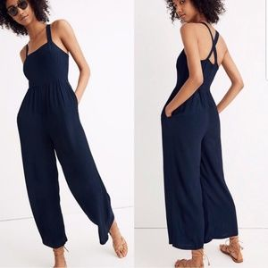 Madewell Cropped Wide Leg Jumpsuit
